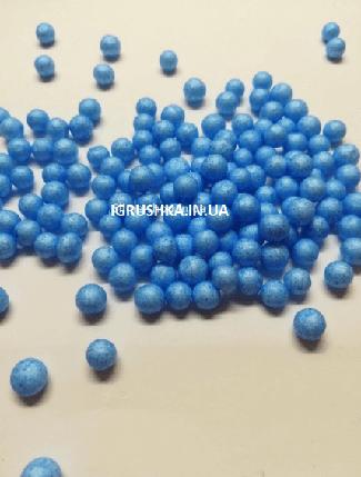 Пенопластовые шарики для слайма крупные голубые, 7-9 мм, фото 2