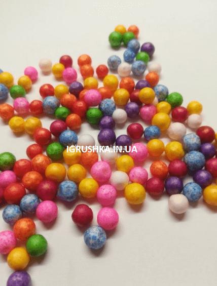 Пінопластові кульки великі для слаймов «Мікс», 7-9 мм