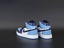 Женские кроссовки Nike Air Jordan.Blue. ТОП Реплика ААА класса., фото 2