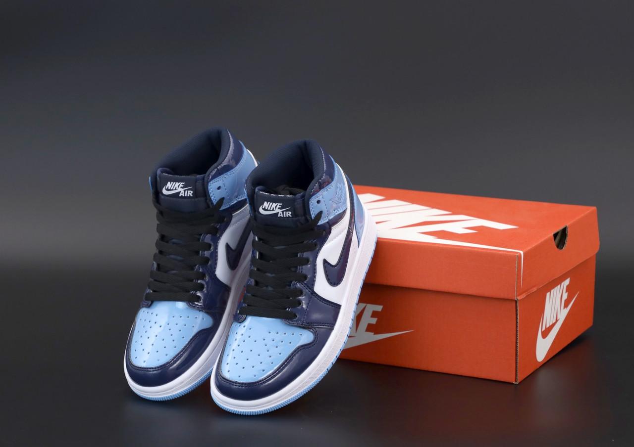 Женские кроссовки Nike Air Jordan.Blue. ТОП Реплика ААА класса.