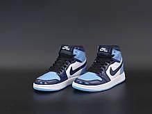 Женские кроссовки Nike Air Jordan.Blue. ТОП Реплика ААА класса., фото 3