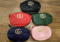 Женская сумка GUCCI (зеленый, красный, пудровый, синий, черный), фото 3