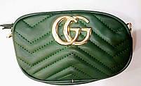 Женская сумка GUCCI (зеленый, красный, пудровый, синий, черный), фото 5
