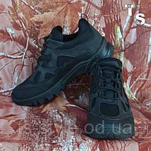 Тактичні кросівки TEXAS крейзі cordura чорні демі/зима