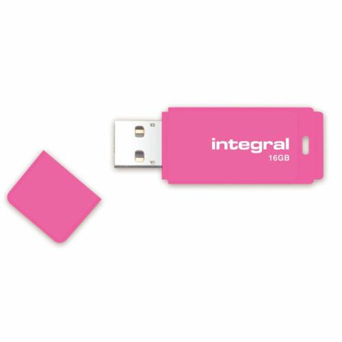 Флеш-накопитель Integral 16 GB Neon pink USB 2.0
