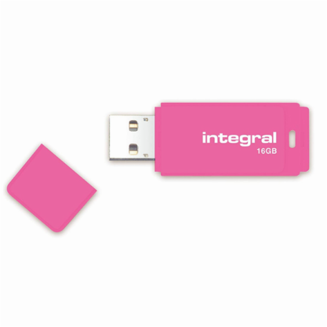Флеш-накопитель Integral 16 GB Neon pink USB 2.0, фото 2