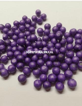 Пенопластовые шарики для слайма крупные фиолетовые, 7-9 мм, фото 2