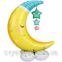 Фольгований куля фігура Сплячий місяць AirLoonz 101х139см Anagram