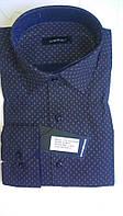 Элегантная Мужская рубашка DERGI приталенная с длинным рукавом  код 6093-2