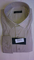 Элегантная Мужская рубашка DERGI приталенная с длинным рукавом код 6175-3