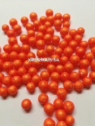 Пінопластові кульки для слайма великі помаранчеві, 7-9 мм, фото 2