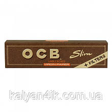 >Бумага для самокруток OCB slim with TIPS
