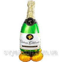 Фольгований куля фігура Шампанське AirLoonz 60х152см Anagram