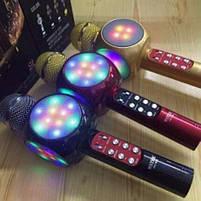 Микрофон Караоке Karaoke 1816 светящийся Красный, фото 4
