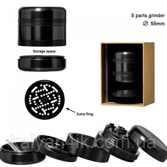 Гриндер металлический Grace Glass | Grinder - American Style 5part d:55mm
