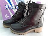 Комфортные зимние чёрные ботинки больших размеров Romax, фото 4