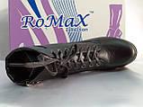 Комфортные зимние чёрные ботинки больших размеров Romax, фото 9