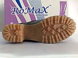 Комфортные зимние чёрные ботинки больших размеров Romax, фото 10