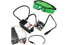 Мощный лазер для резки гравировки 5.5Вт 445нм TTL + защит. очки