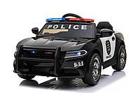 Детский электромобиль легковая машина Полиция T-7654 EVA BLACK черная