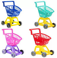 Детская игровая тележка, игра супермаркет, тележка с корзиной для катания и игрушек, 693