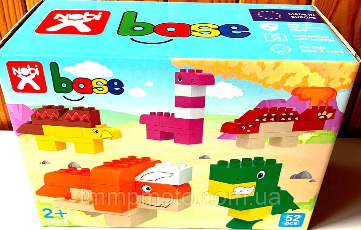 Конструктор-кубики Nobi Dino, 52 детали
