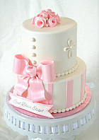 Торт на крестины для девочки, фото 1