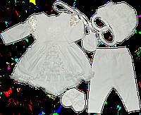 Крестильный набор для девочки (интерлок) из 5 предметов 56 84185e42db9e7
