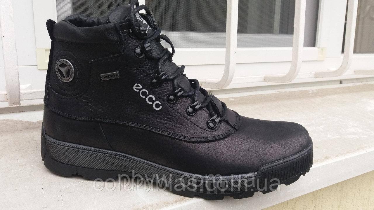 Зимние мужские кожаные ботинки ессо 40456