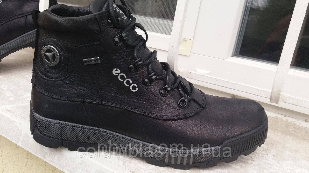 Зимние мужские кожаные ботинки ессо 4045