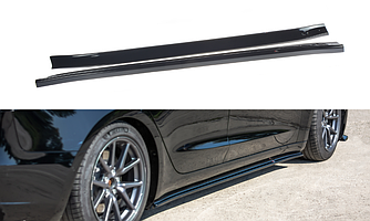 Обвес Tesla Model 3 элерон под пороги юбки сплиттер