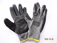 Перчатки трикотажные серые с черным латексным покрытием REIS RECODRAG, Польша (упаковка 12 пар)