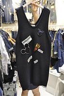 Платье-жилет вязаный