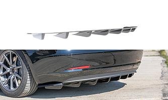 Диффузор Tesla Model 3 юбка элерон сплиттер заднего бампера