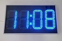 Фасадные часы с термометром