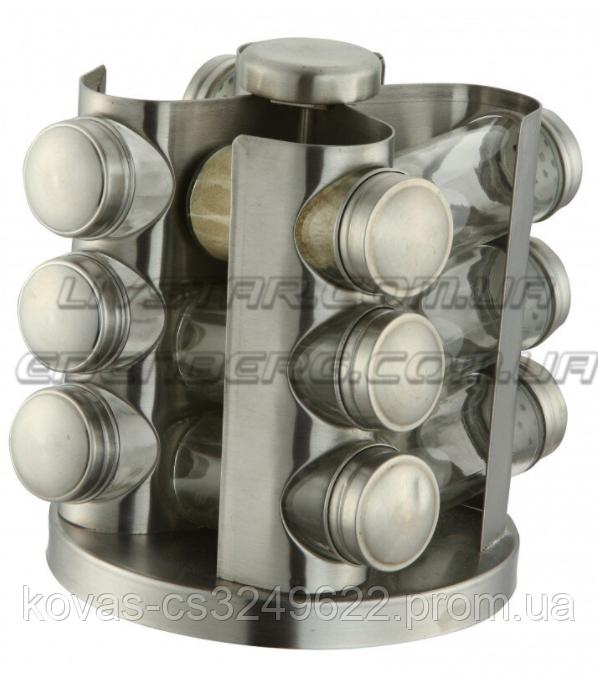 Наборы банок для специй 13 В 1, стеклянные с вращающейся подставкой