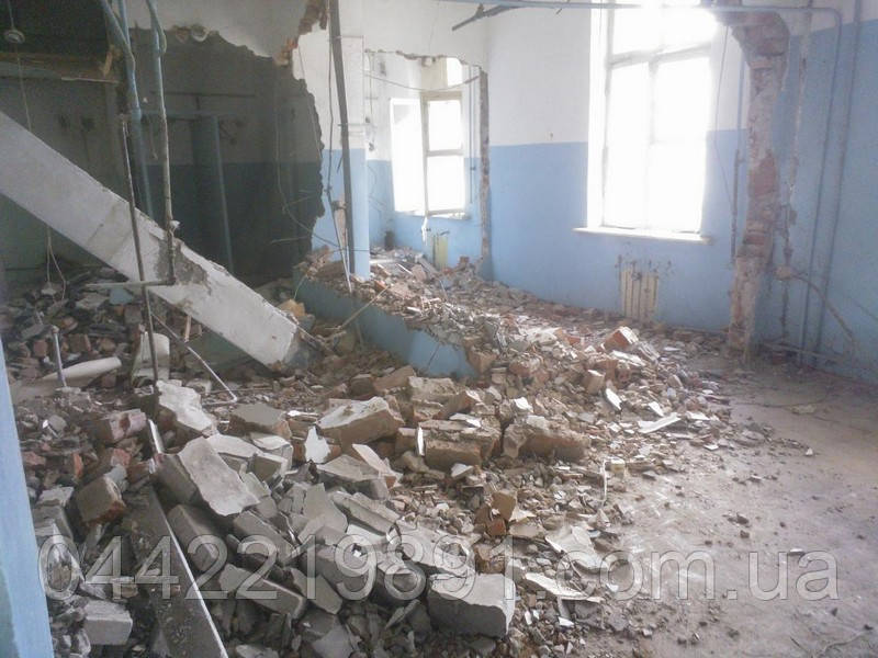 Демонтаж кирпича Кирпичной кладки Снос стен
