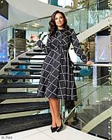 Модное женское нарядное шёлковое платье в больших размерах