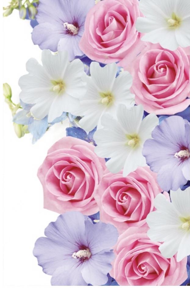 Подарочный пакет БОЛЬШОЙ ВЕРТИКАЛЬНЫЙ 25*37*8 см Букет из роз