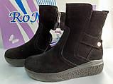 Комфортные зимние замшевые ботинки на платформе Romax, фото 3
