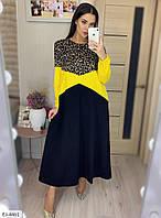 Женское модное платье в пол, в больших размерах и красивой расцветке