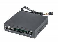 Кардридер внутренний gembird fdi2-allin1-02-b black cf/ md/ sm/ ms /sd /mmc /xd