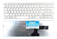 Оригинальная клавиатура для ноутбука Asus G51, G51, G51J, K52, K52D, K52De, K53, K53E ru (с белой рамкой)