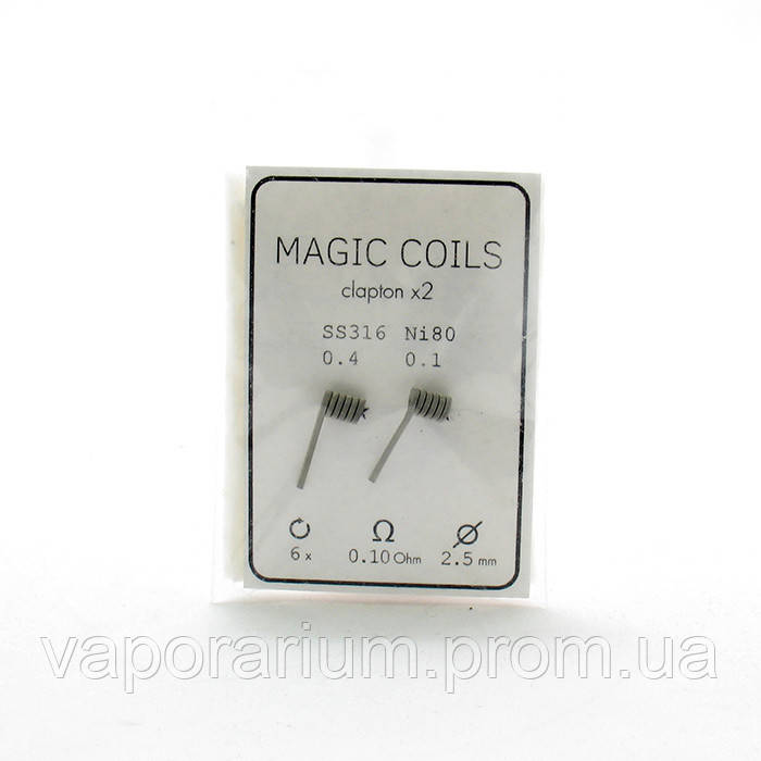 Комплект спиралей Magic Coils Fused Clapton №26 2 шт 0.10 Ом
