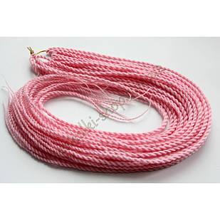 Сенегальские коси коси Zizi зізі світло-рожеві однотонні, модель A16