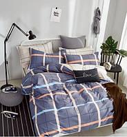 Комплект постельного белья Наша Швейка Сатин Большая цветная клетка Двуспальный 180 х 215 см