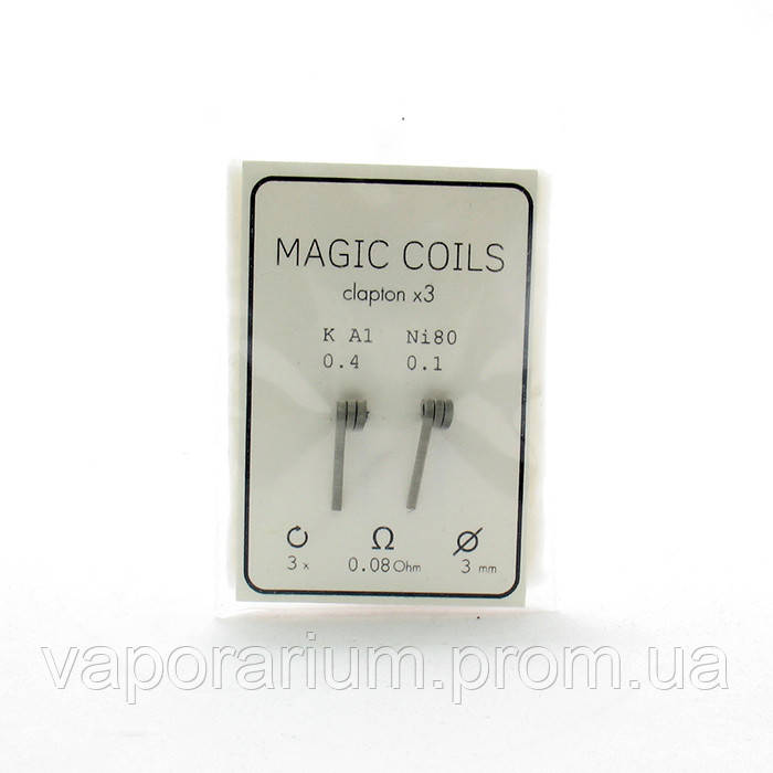 Комплект спиралей Magic Coils Triple Clapton №34 2 шт 0.08 Ом