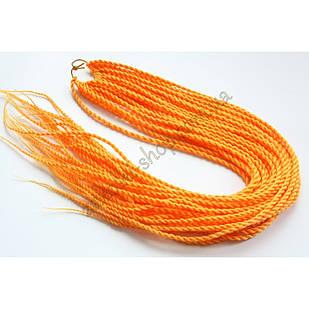Сенегальские коси коси Zizi зізі помаранчеві однотонні, модель A20