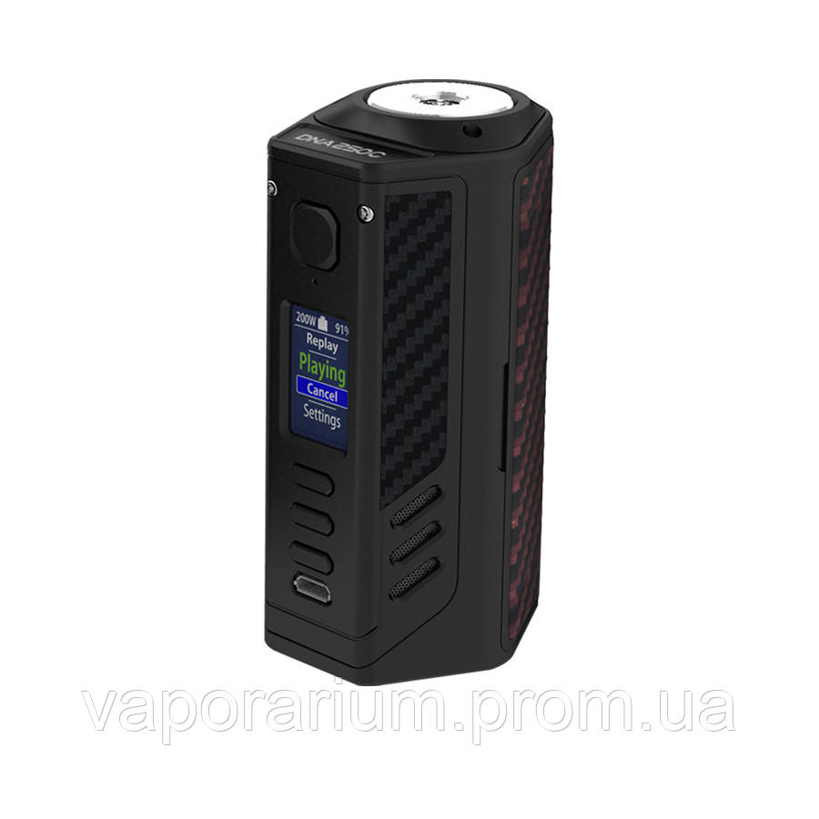 Батарейный мод Lost Vape Triade DNA250C 300W Black Red Black Kevlar