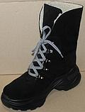 Зимние замшевые женские ботинки от производителя модель ДР1043, фото 4